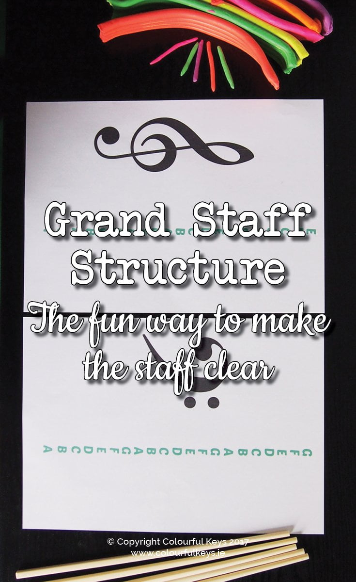 How to make the grand staff structure clear to music students