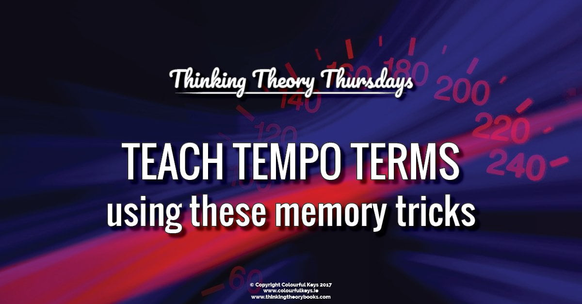 Teaching tempo marks to piano students