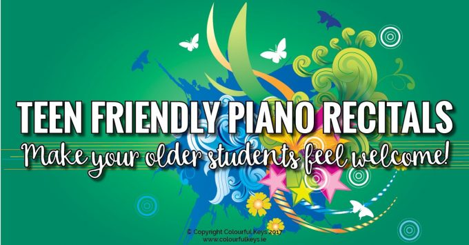 How to Host a Teen Friendly Piano Recital