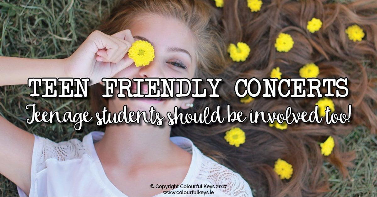 Teen friendly piano recitals –how to set up your recitals to be teen friendly.