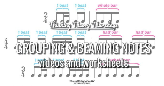 Teaching Music Students to Group or Beam Notes Correctly