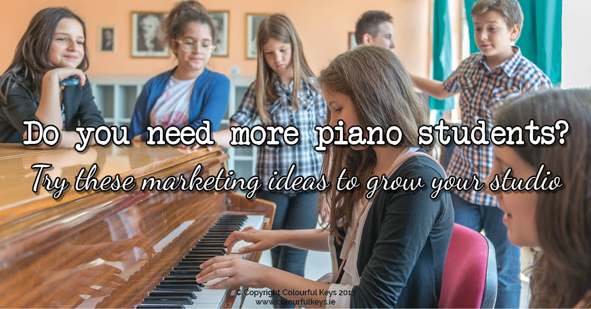 piano studio marketing