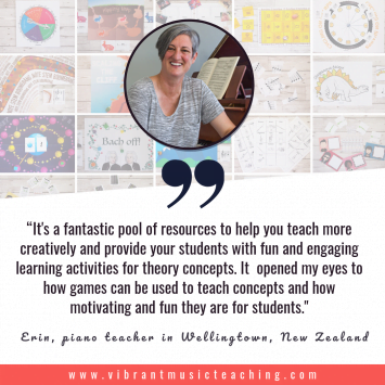 Erin, New Zealand quote about Vibrant Music Teaching