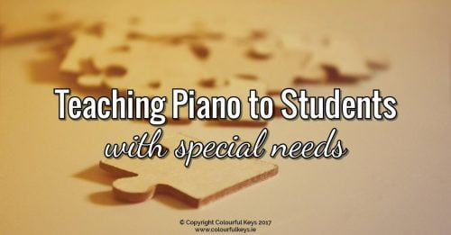 Tips for teaching piano students with special needs