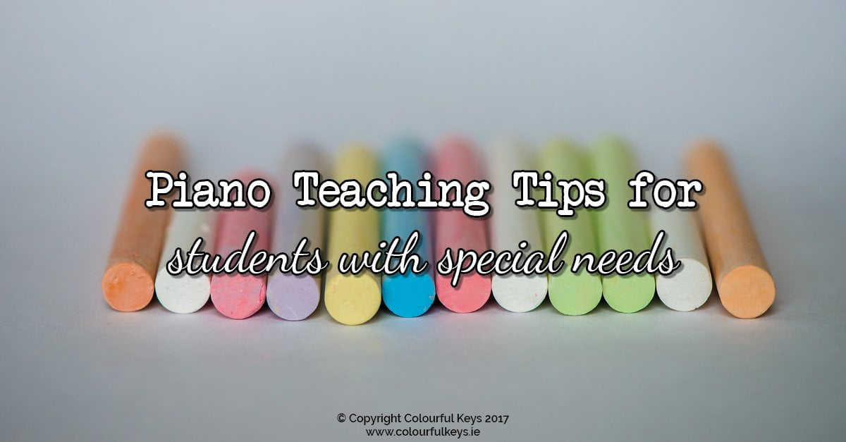 Piano teaching tips for students with special needs