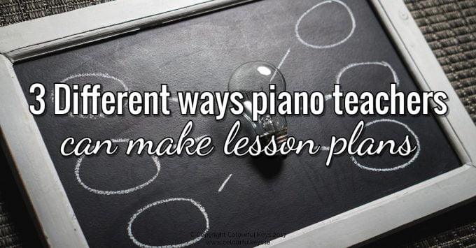 Piano teaching tips, ideas and resources