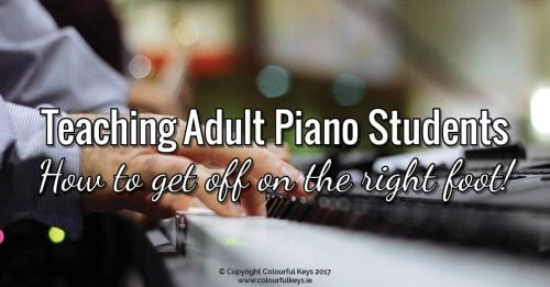 Perfect first lesson with an adult piano student