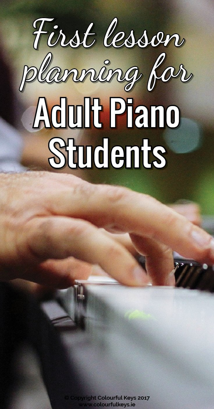 Teaching piano to adult students