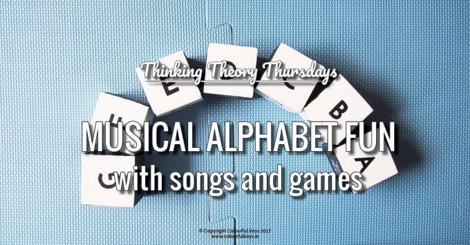 Musical Alphabet Fun Forwards, Backwards, Upside Down and Sideways