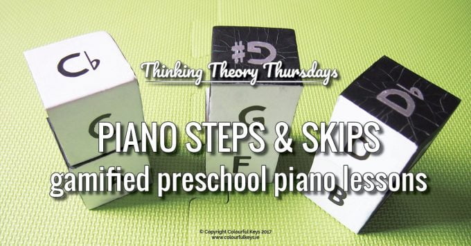 Stepping and Skipping on the Keys in Preschool Piano Lessons