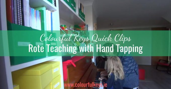 CKQC003: Hand tapping as a rote teaching aid
