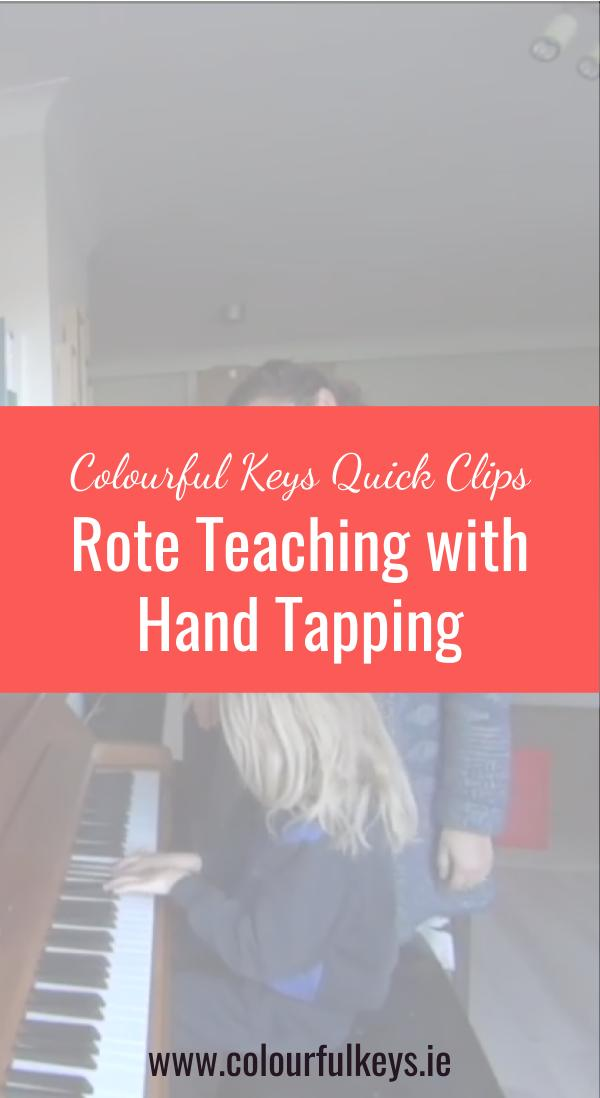 CKQC003_ Hand tapping as a rote teaching aid Pinterest 2