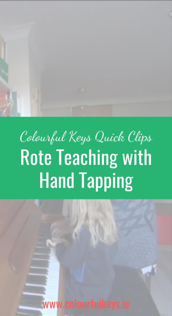 CKQC003_ Hand tapping as a rote teaching aid Pinterest