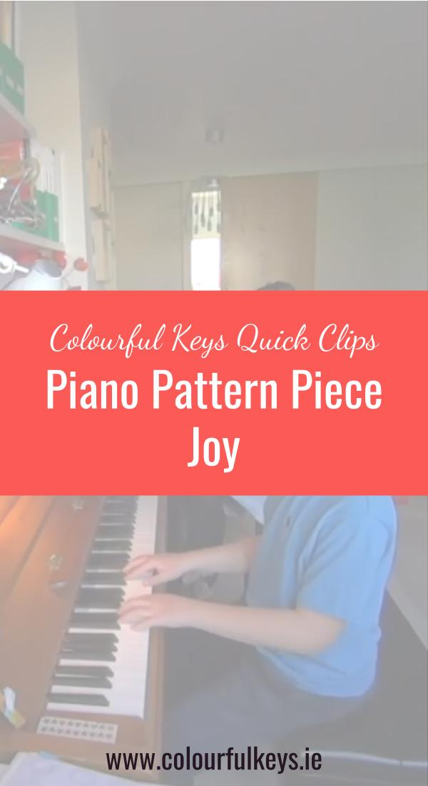 CKQC005_ The sheer joy of piano pattern pieces Pinterest 2
