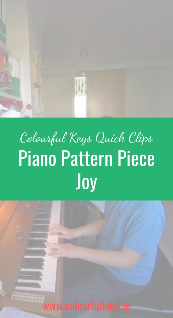 CKQC005_ The sheer joy of piano pattern pieces Pinterest_