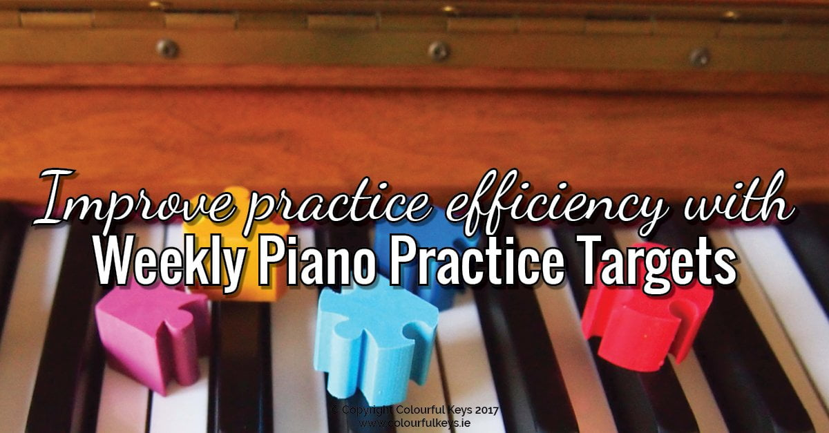 How to Make Students Accountable with Piano Practice Targets and ...