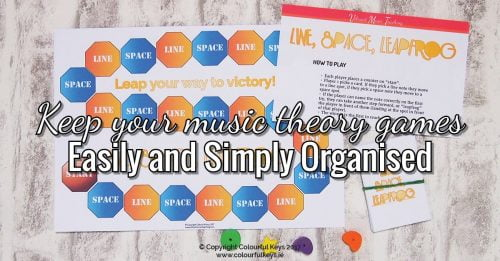 A simple system for organising all your music teaching games