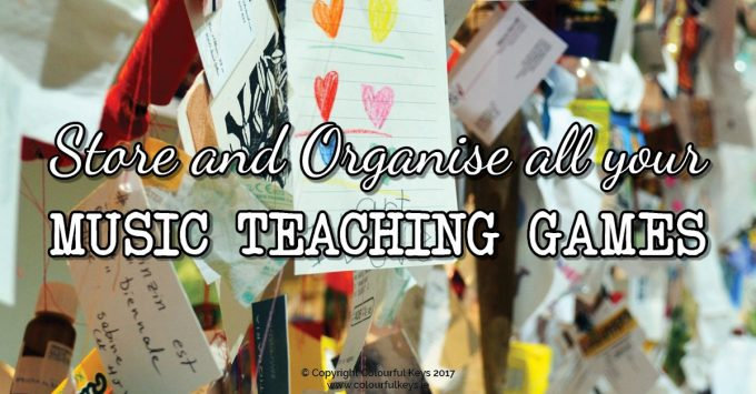 How to store and organise piano teaching games