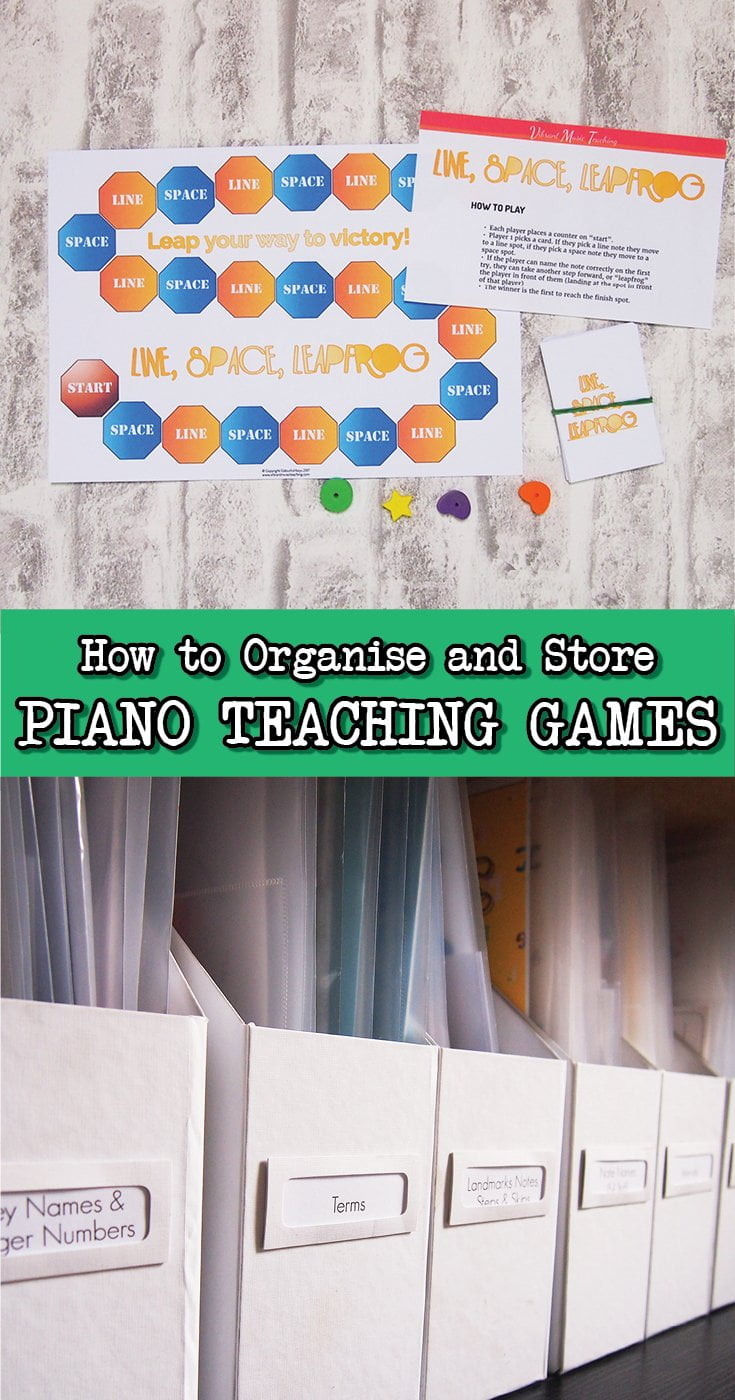 How to store and organise piano teaching games in a way that actually works!