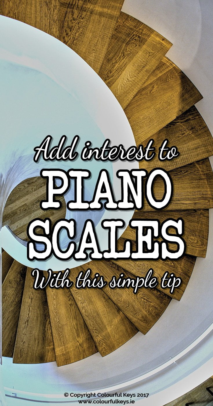 Interesting and musical piano scale teaching