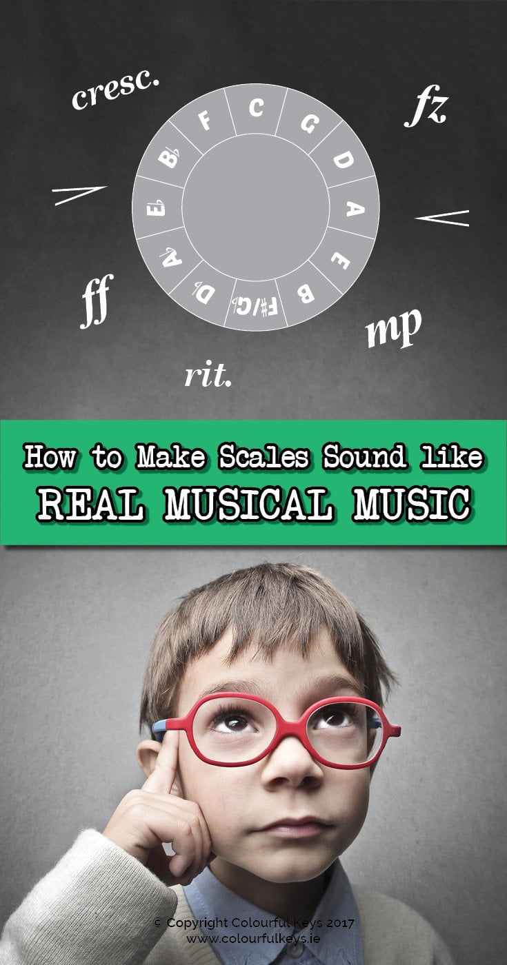 How to make scales sound like REAL music when teaching piano.