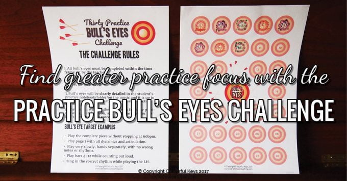 Help Your Students Find Practice Focus with the 30 Bull's Eyes Challenge