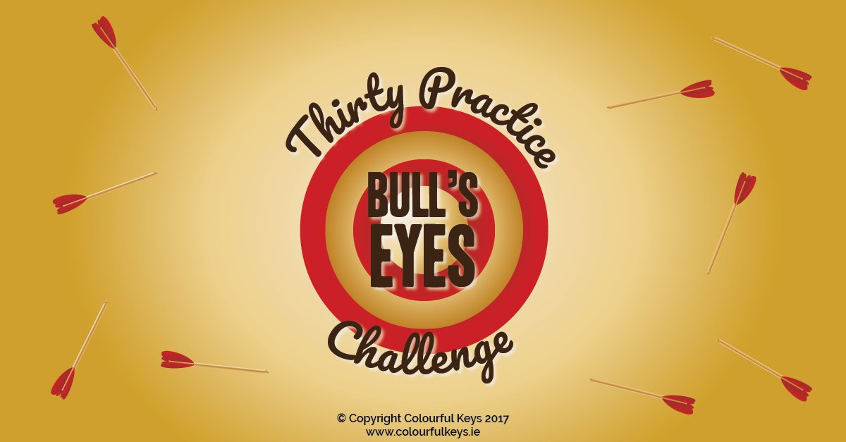 The 30 practice bull's eyes piano practice incentive