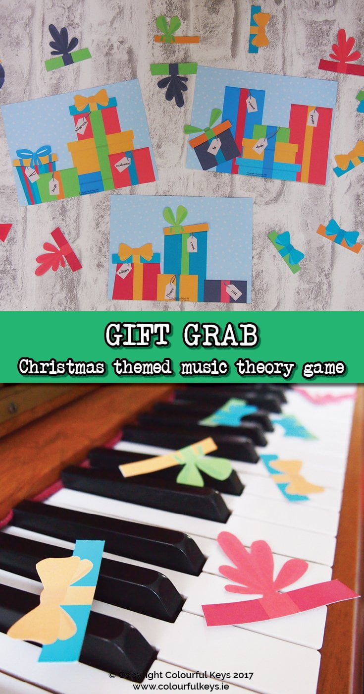 Get your hands on Gift Grab, the fun new game for piano students