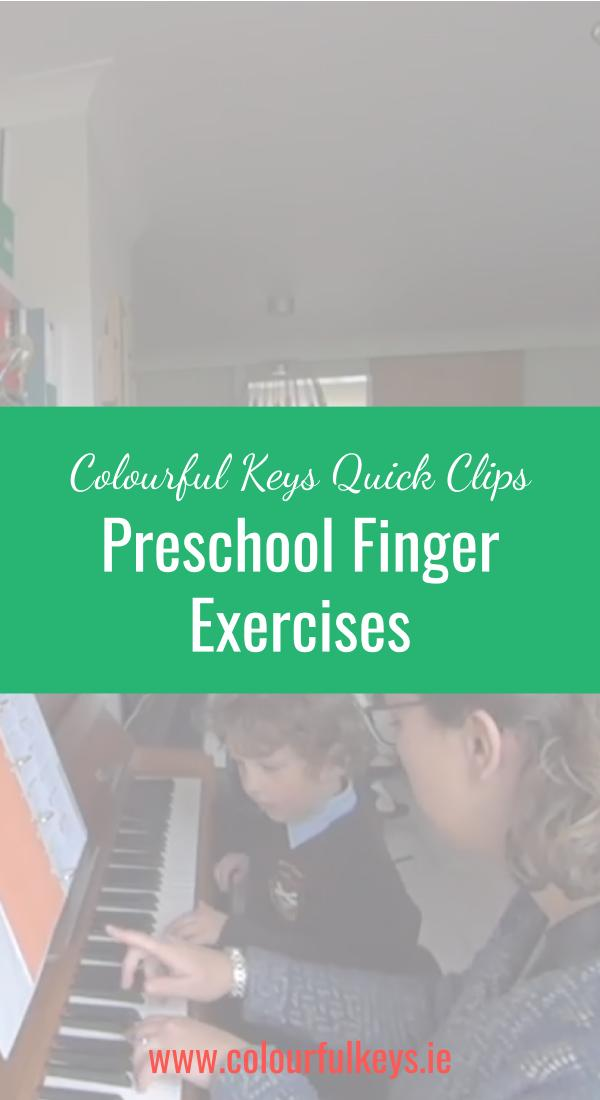 CKQC009- Developing finger dexterity with piano preschoolers Pinterest