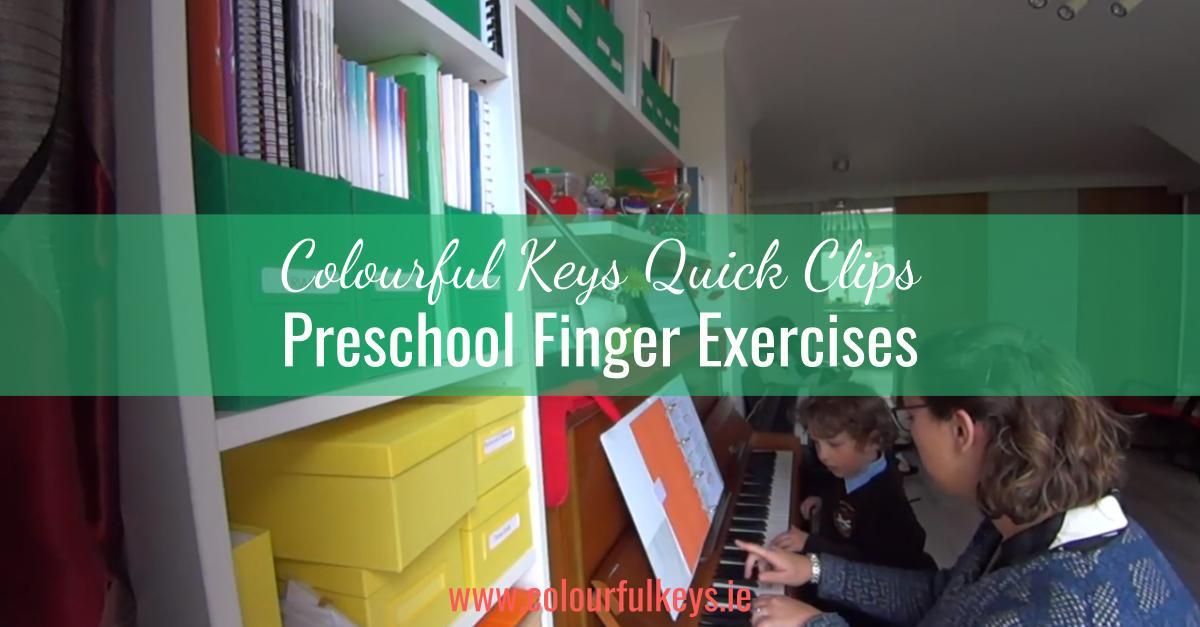 CKQC009- Developing finger dexterity with piano preschoolers