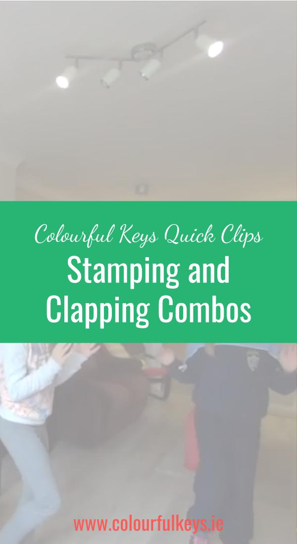 CKQC010- Dividing beats with stamping and clapping Pinterest
