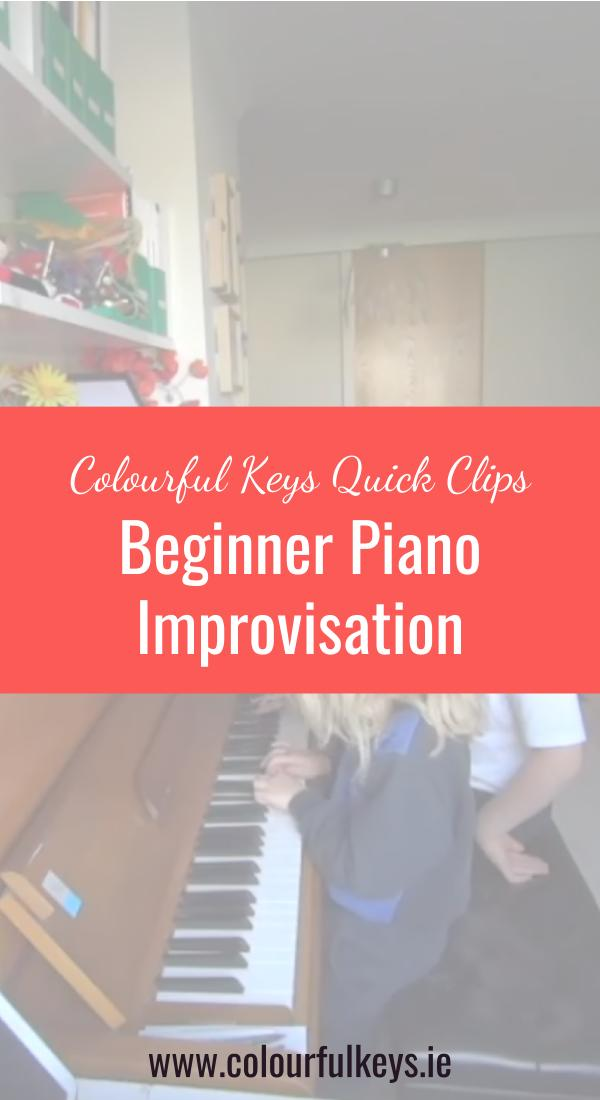 CKQC012- Simple and effective piano improvisation for beginners Pinterest 2
