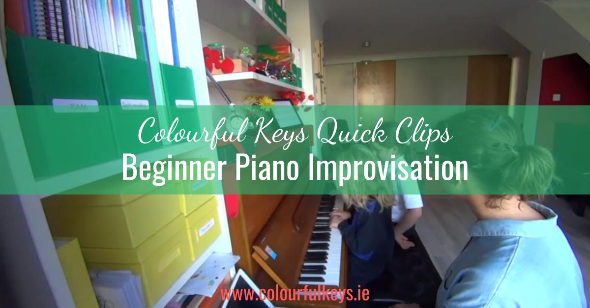 CKQC012- Simple and effective piano improvisation for beginners