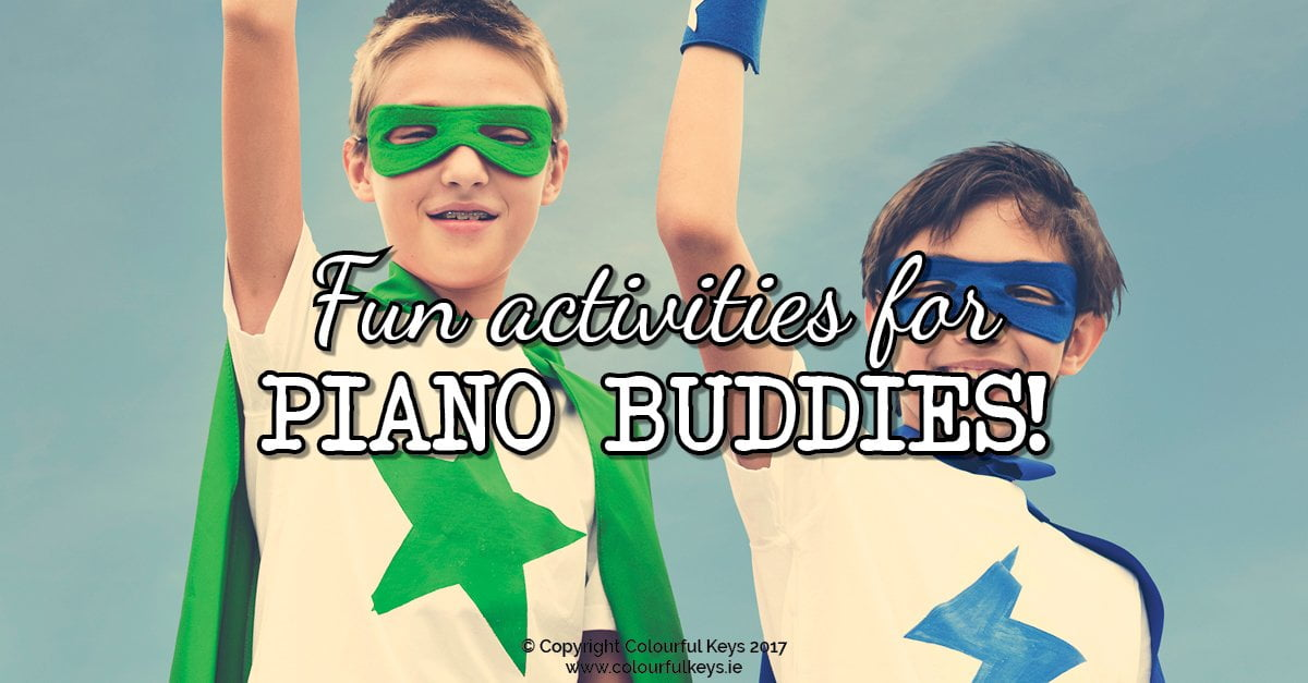 How to plan activities for buddy piano lessons