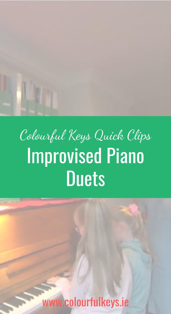 CKQC013- Improvising piano duets and exploring the keys Pinterest