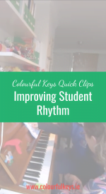 CKQC015_ Playing side by side to improve piano student rhythm Pinterest
