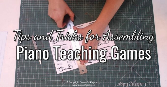 How I Print, Trim, Laminate and Assemble Piano Teaching Games
