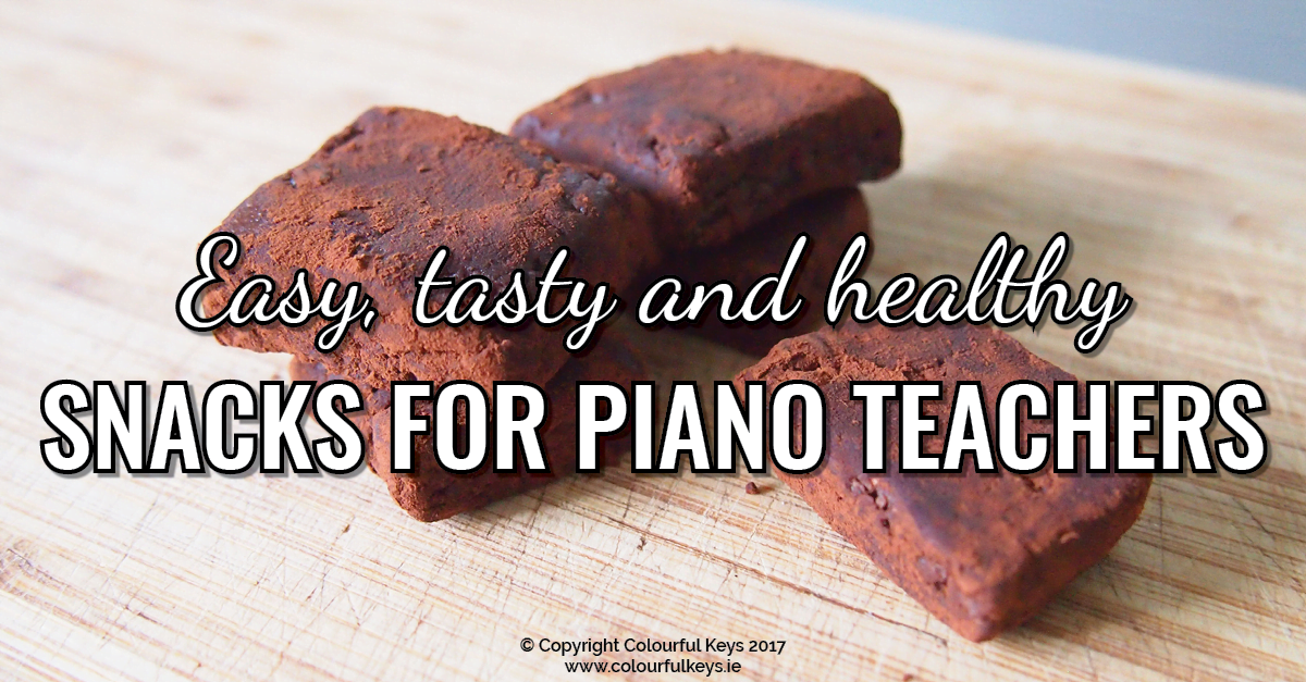 Easy quick and healthy snacks for teaching breaks