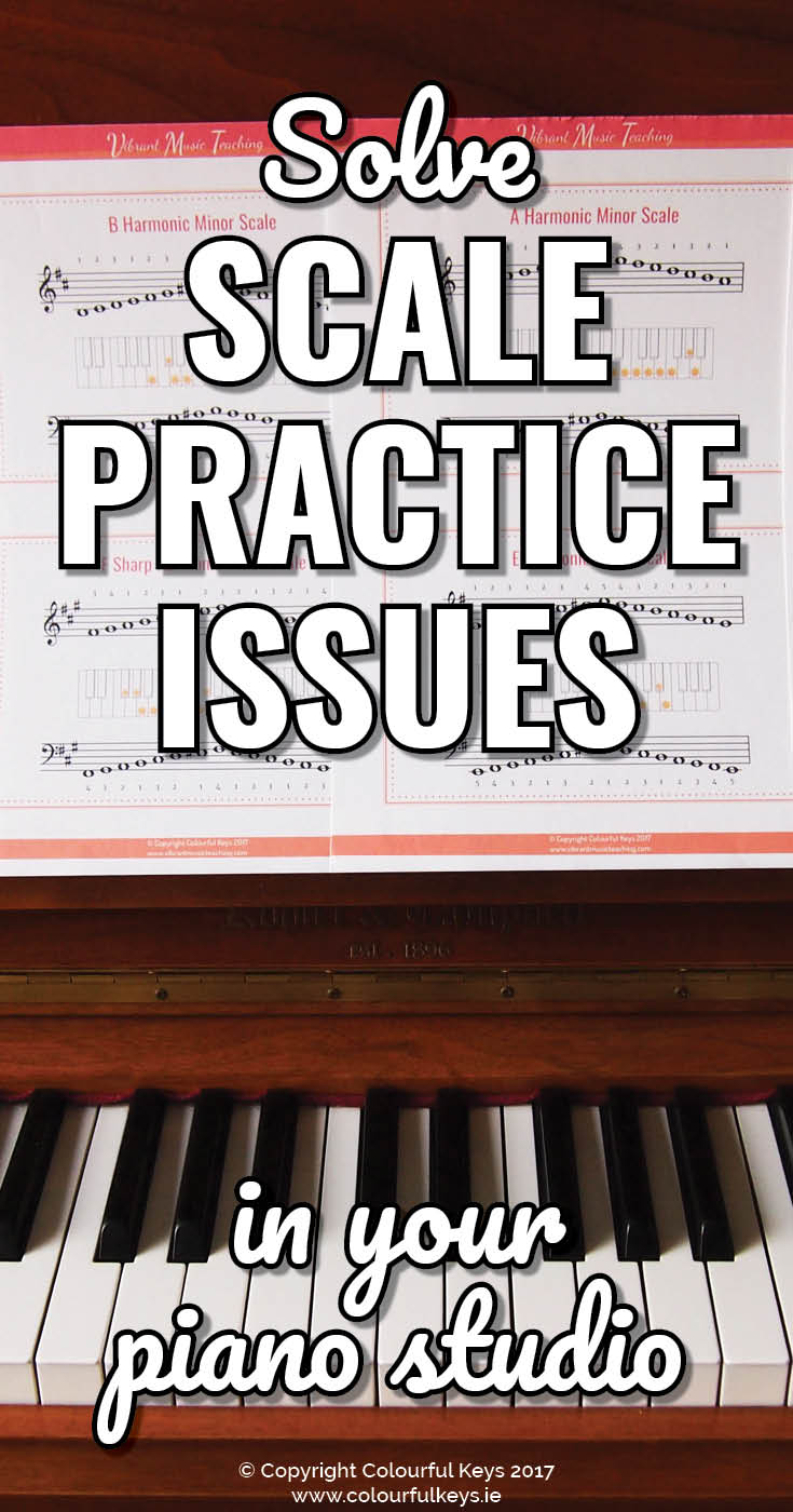 Use these reminder videos and graphics to help you teach scales in your studio