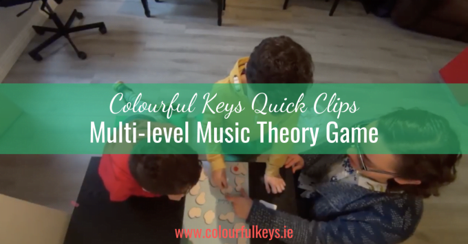 CKQC025: 'Symbol Splash' music theory game for multi-level students