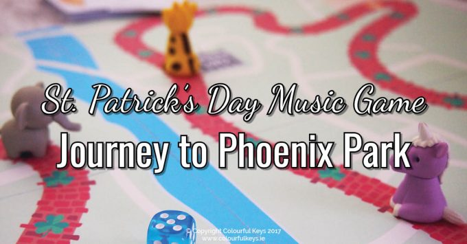 A fun music theory game with a St. Patrick's Day theme