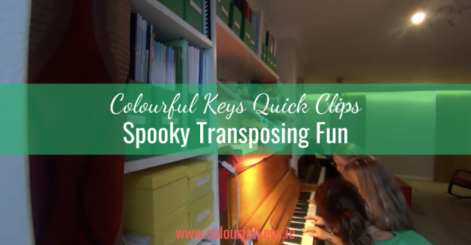 CKQC026: Transposing a 'Skip to My Lou' duet for Halloween