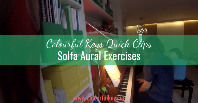 CKQC029: Solfa identification aural exercise for beginner piano students