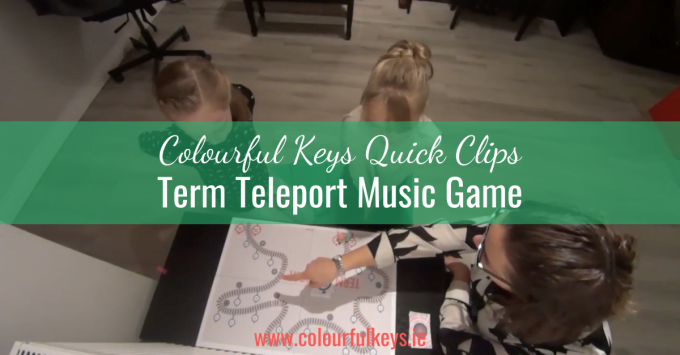 CKQC034 'Term Teleport' music theory game for early intermediates Blog Post Template