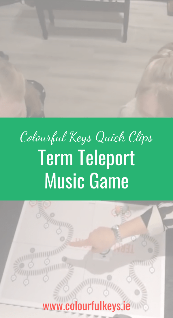 CKQC034_ 'Term Teleport' music theory game for early intermediates Blog Post Image Template Pinterest