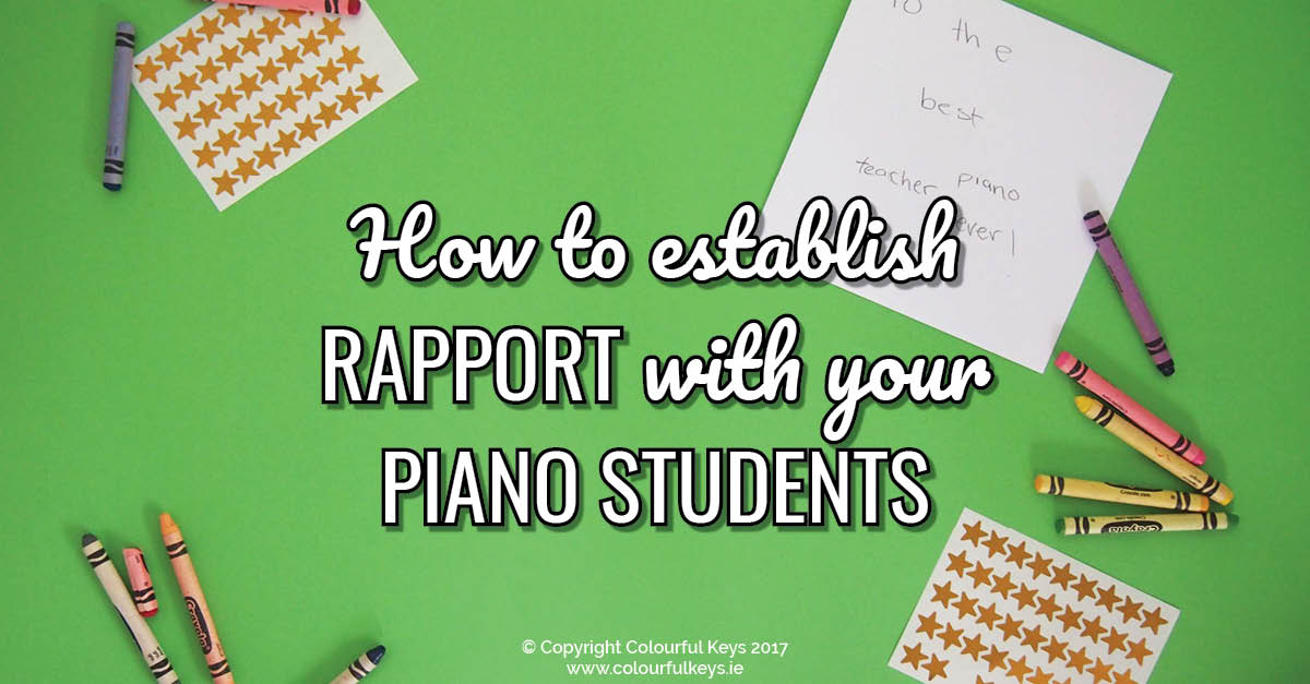 3 Simple Rules for Creating Rapport with your students