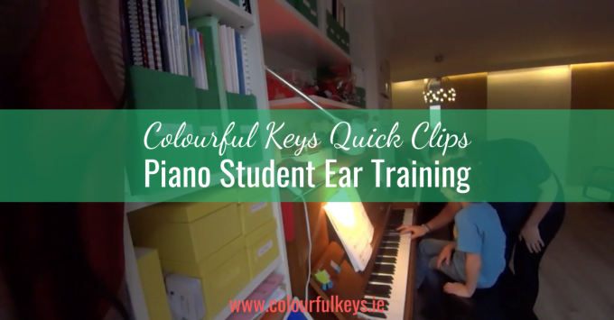 CKQC037: Beginner piano student ear training with melody playbacks