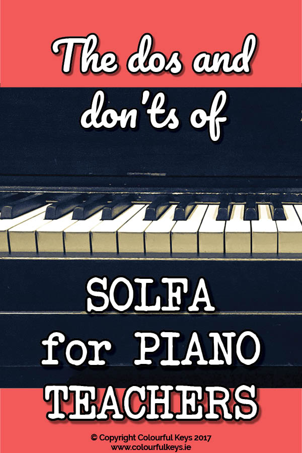 Solfa for piano teachers...for beginners3