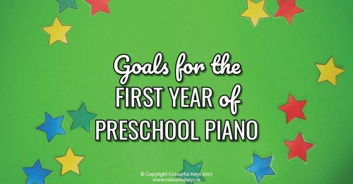 First Year Goals for a Preschool Piano Student