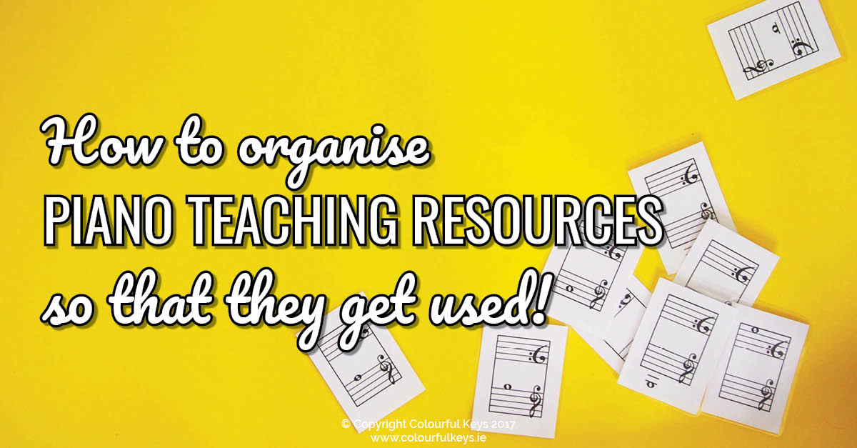 How to organise your digital piano teaching resources (so that they actually get used!)